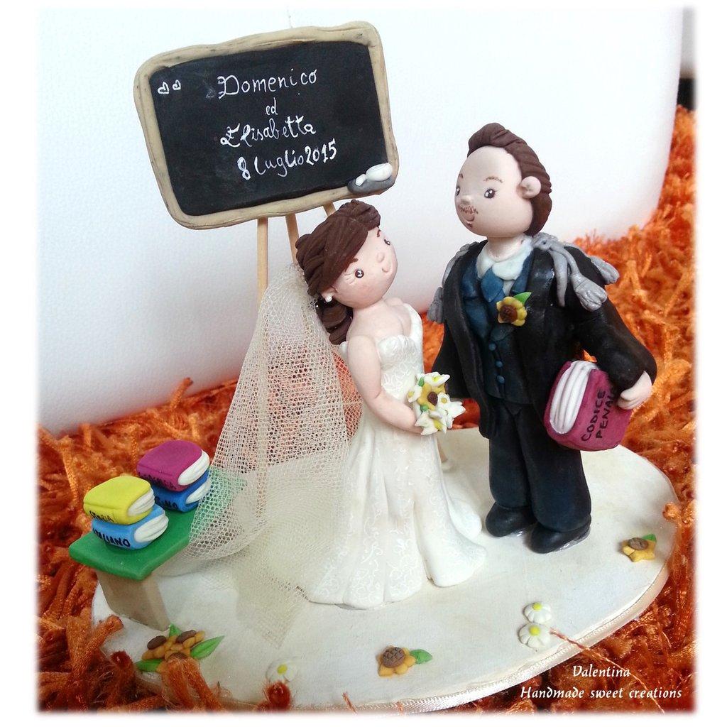 Wedding Cake topper Matrimonio Insegnante Lettere Avvocato