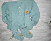 completo neonato 3/6 mesi giacca e scarpine
