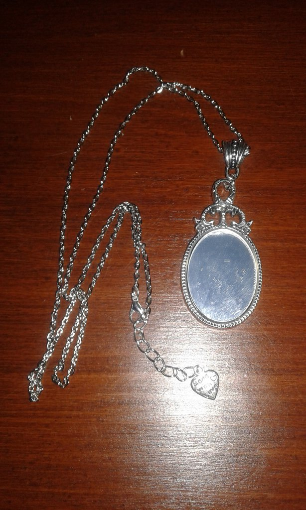 collana ciondolo specchio argento