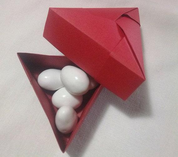 Scatola porta confetti, bomboniera, triangolo