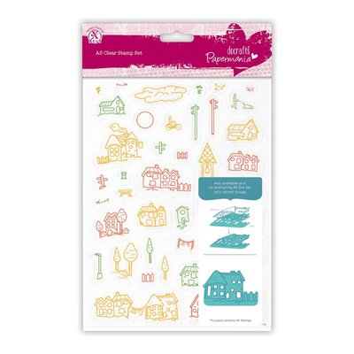 A5 Clear Stamps - Village