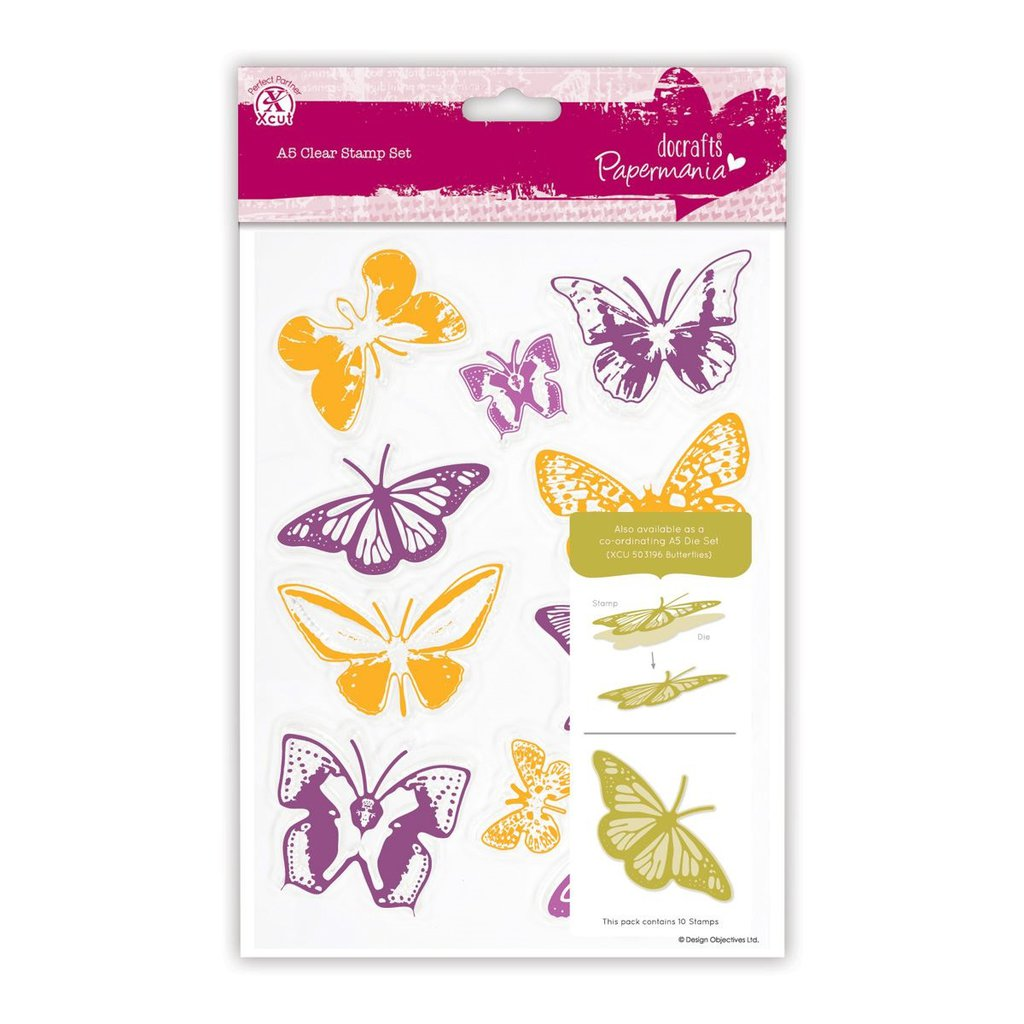 A5 Clear Stamps - Butterflies