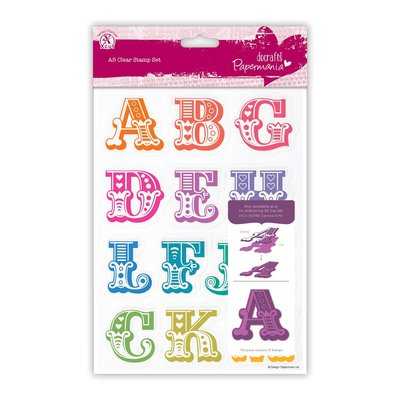 A5 Clear Stamps - Carnival Alphabet A-M