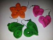 gioielli di carta vetrificati leggerissimi e di colori vari