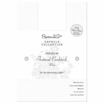 A5 Premium Cardstock Textured - Bianco