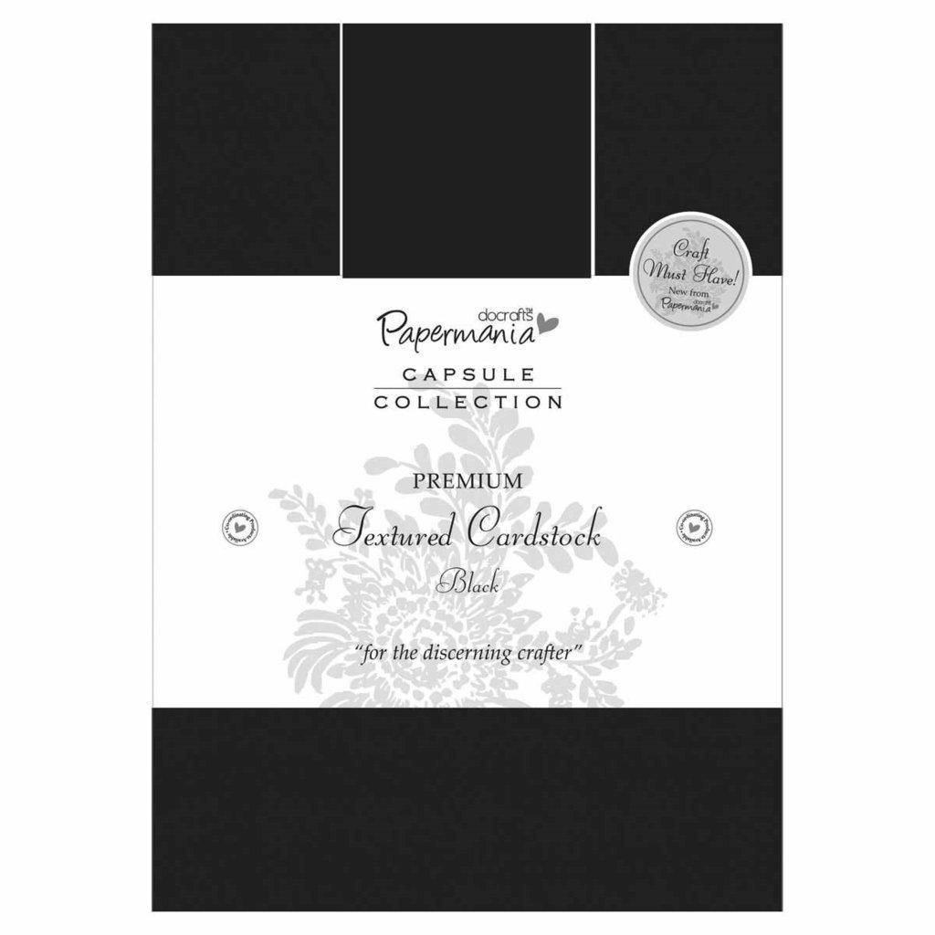 A5 Premium Cardstock Textured - Nero