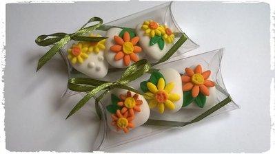 confettata margherite, confetti decorati