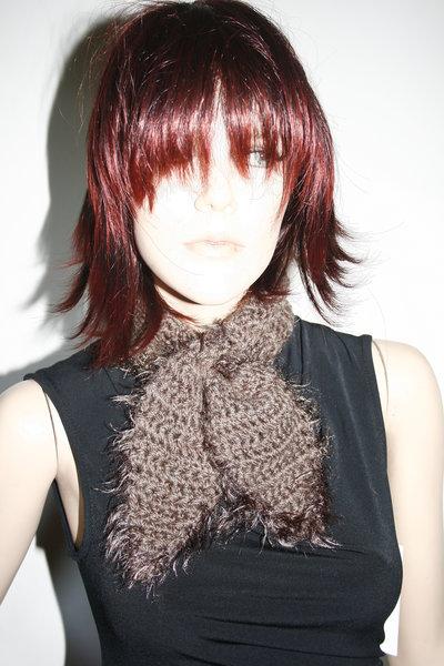 sciarpa copricollo uncinetto testa di moro