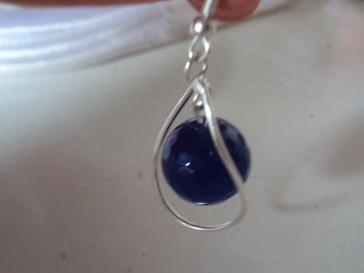 orecchini agata blu