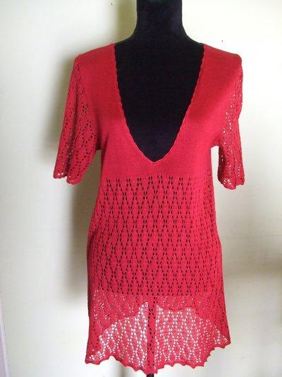 maglia donna pizzo cotone maglieria