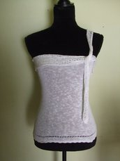 top donna pizzo bianco
