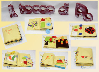 Libro tattile per bimbi di 1-3 anni fatto a mano
