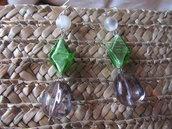Orecchini pendenti con vetro di Murano