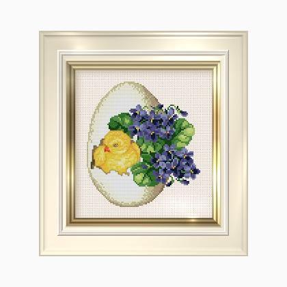 Spring Chicken - Schema Punto Croce - Ellen Maurer Stroh - EMS027