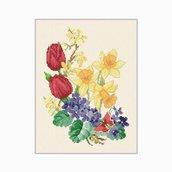 Spring Flowers - Schema Punto Croce - Ellen Maurer Stroh - EMS028