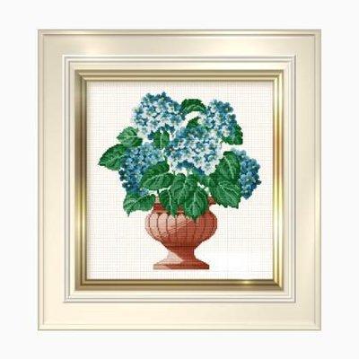 Hydrangea Bowl - Schema Punto Croce Ortensie - Ellen Maurer Stroh - EMS032