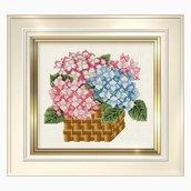 Hydrangea Basket - Schema Punto Croce Cesto Ortensie - Ellen Maurer Stroh - EMS033