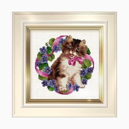 Flowercat Pauline - Ellen Maurer Stroh - Schema Punto Croce - EMS056