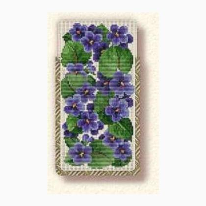Portaocchiali Violette - Ellen Maurer Stroh - Schema Punto Croce - EMS106