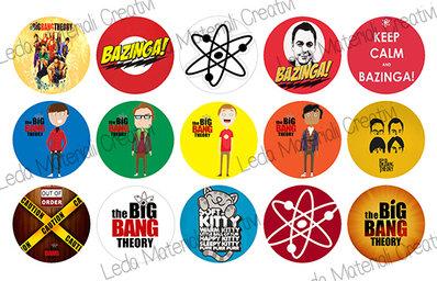 Grafica per cabochons 25mm Big Bang Theory COD.004