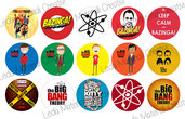 Grafica per cabochons 25mm Big Bang Theory COD.004