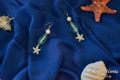 Orecchini con stella marina