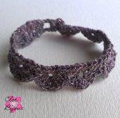 Bracciale Crochet viola
