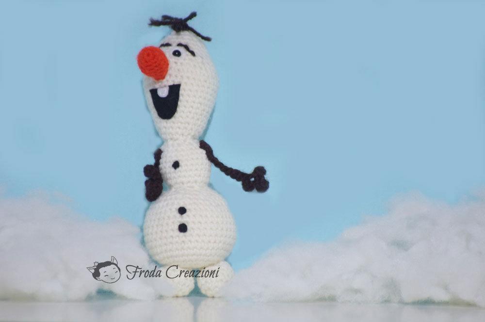 Olaf - Amigurumi - Pupazzo di neve - Bambola - Bambole - Su ordinazione