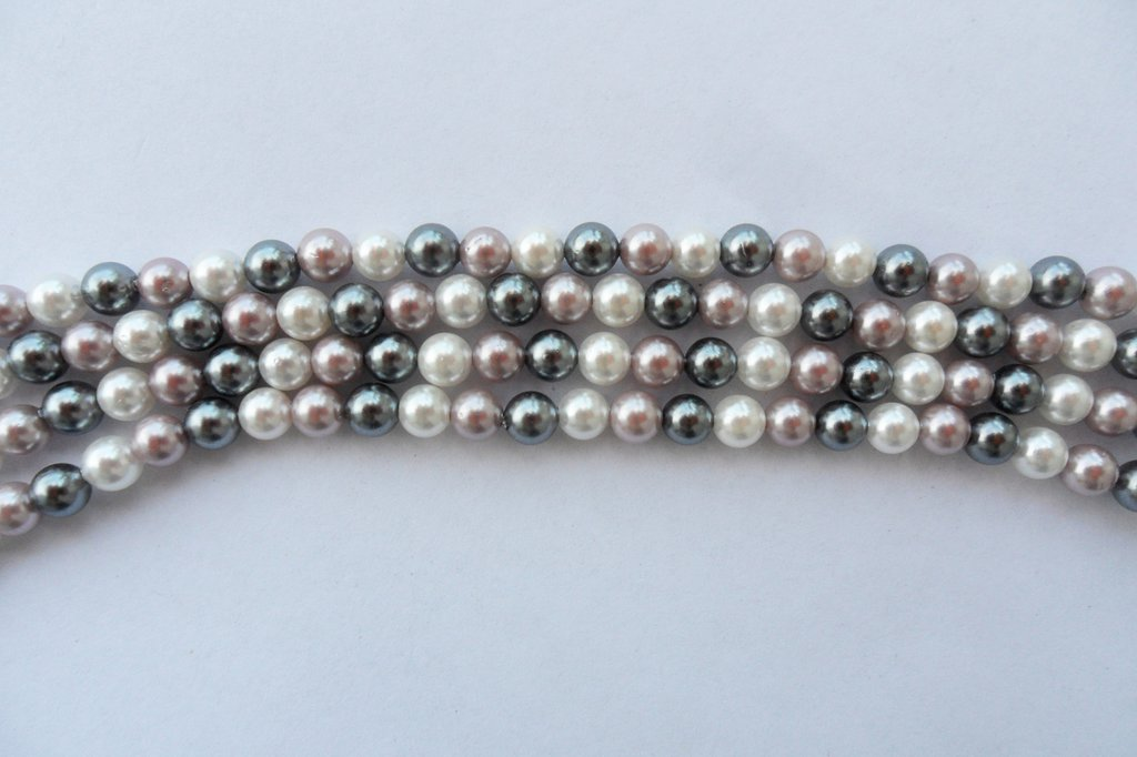 Perle di fiume tris di colori misto 8 mm 25 pz