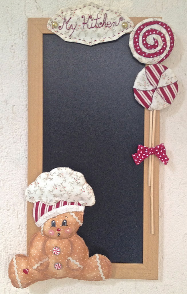 lavagna gingerbread per i tuoi appunti di cucina e non per la