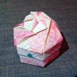 Scatola porta confetti, bomboniera, origami esagonale