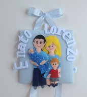 Fiocco nascita Happy Family