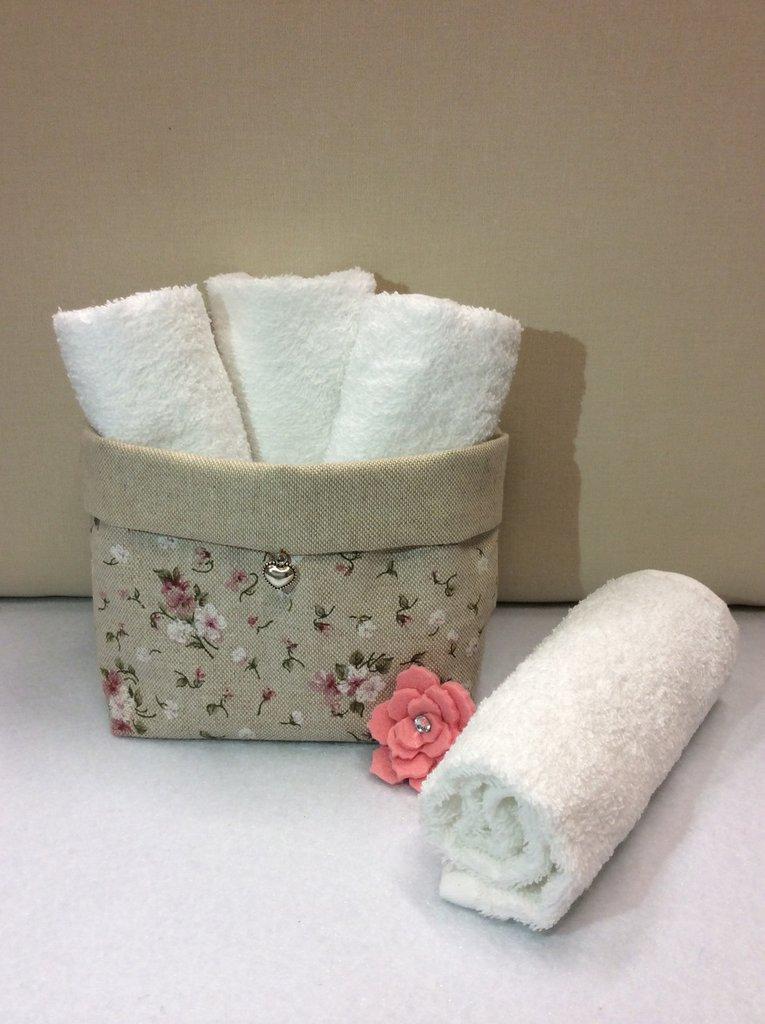 Cestino portatutto con lavette per la casa e per te - Cestini portatutto ...