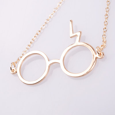 Collana con occhiali e saetta dal famoso film Harry Potter!!Ultima disponibile!!