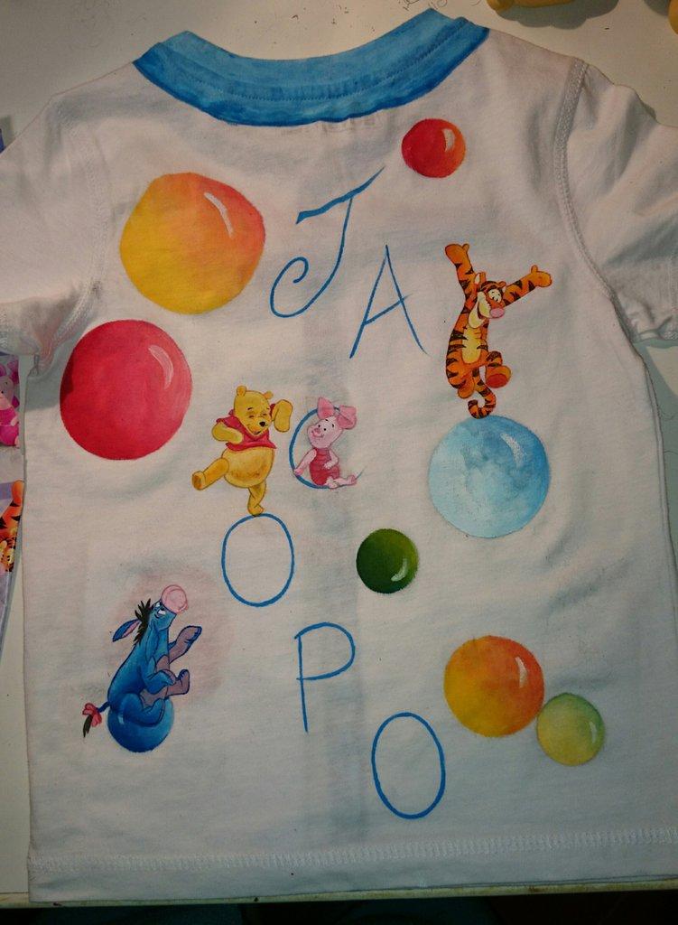 maglietta personalizzata dipinta a mano