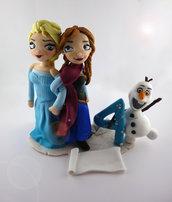 cake topper compleanno elsa anna olaf frozen