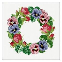 Viola Wreath - Ellen Maurer Stroh - Schema Ghirlanda di Viole - EMS008