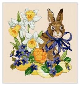 Easter Rabbit - Ellen Maurer Stroh - Schema Punto Croce Coniglietto Pasquale - EMS025