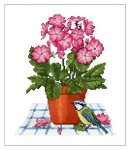 Primrose Pot - Schema Punto Croce Ellen Maurer Stroh - EMS035
