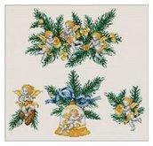 Angel Ornaments - Schema Punto Croce Angioletti - Ellen Maurer Stroh - EMS059
