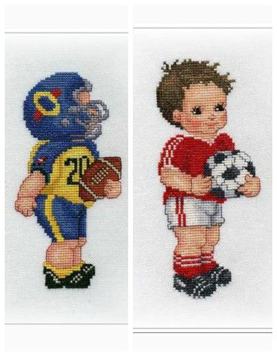 Football Player - Ellen Maurer Stroh - Schema Punto Croce