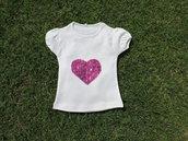 Maglietta con cuore