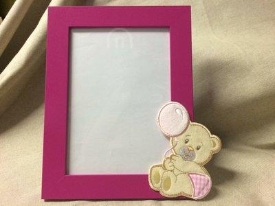 Cornice portafoto neonato fuxia