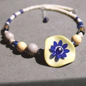C.27.15 - Girocollo con fiore vintage - Linea Primavera
