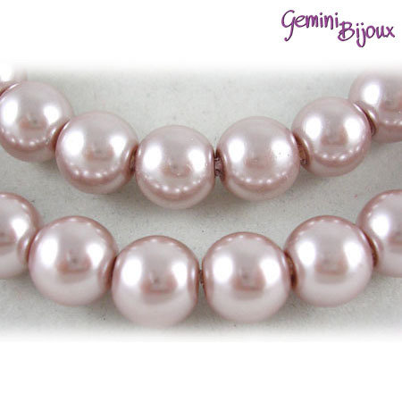 Lotto 20 perle tonde in vetro cerato 8mm light bronze