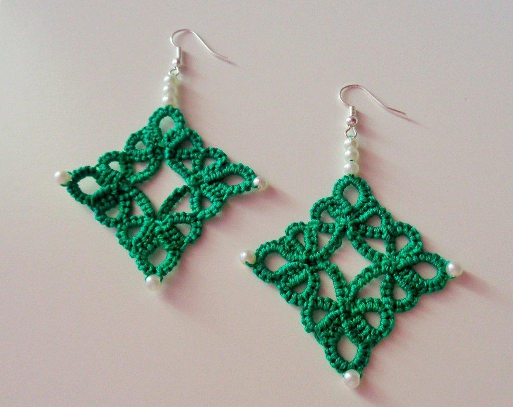 Orecchini diamond, verde brillante