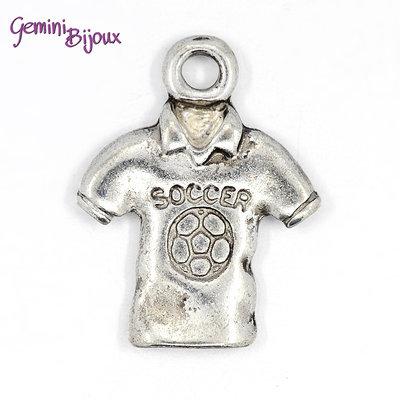 Charm argento tibetano maglia da calcio, 18.5x15mm