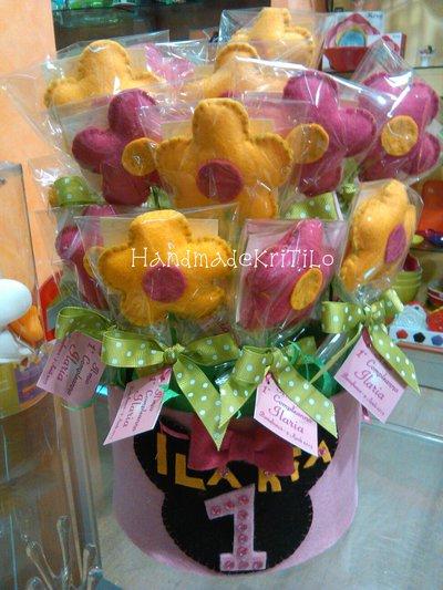 fiori in pannolenci con stelo Handmade KriTiLo