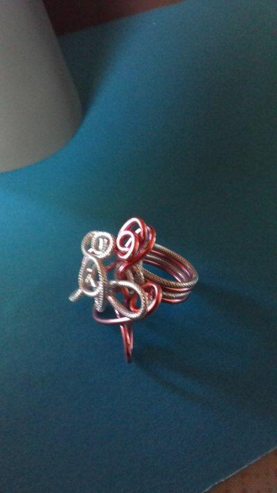 anello wire in alluminio acciaio bicolore