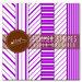 File digitali stampabili: set di 6 carte grafiche originali rigate color viola orchidea